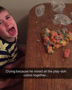 """Parents Across the Internet Are Sharing All of The Funny Reasons """"Why My Kid is Crying"""" Reasons Kids Cry, Play Doh Colors, Crying For No Reason, Childfree, Cheer Up, Cry Baby, My Children, The Funny, Funny Pictures"""