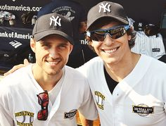 Dueling Fiyeros: Aaron Tveit and Derek Klena play for the Broadway Bombers.