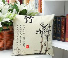 Throw Pillow Case Cotton linen Sofa Cushion Cover Home Decor Four Gentleman 45cm