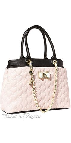 Betsey Johnson Tote Be My Bow Shopper Blush Quilted Heart Shoulder Bag Cute Handbags, Quilted Handbags, Pink Handbags, Betsy Johnson Purses, Betsey Johnson Handbags, Bow Purse, Beautiful Bags, Bag Sale, Bag Accessories