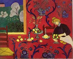 """Harmony in red"" by Henri Matisse (1908)"