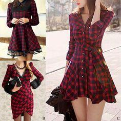 street looks, women fashion Saia, Camisa Vestido Longo, Vestido Vermelho De  Manga Comprida 2fc39f57a0