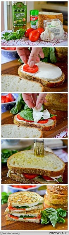 Caprese grilled cheese?