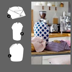 Breadbasket coffee and tea cosy - DIY for your easter table