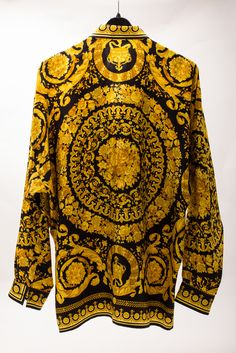 Silk black/gold barocco
