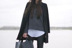 layered black jacket