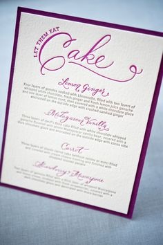 Whitney A K S Colorful Letterpress Wedding Invitations Cake Table And Weddings