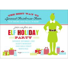 Use this Buddy the Elf Christmas party printable invitation to get the word out about your outdoor movie night – Southern Outdoor Cinema event planning tip for promoting an outdoor event. Ward Christmas Party, Christmas Movie Night, Xmas Party, Christmas Elf, Holiday Parties, Holiday Time, Party Time, Christmas Party Invitation Template, Christmas Party Invitations