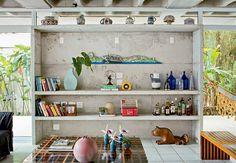 estantes de alvenaria e madeira - Pesquisa Google