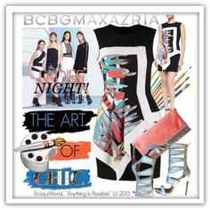 The Art of Chic with BCBGMAXAZRIA Contest: B/W by enjoyzworld on Polyvore featuring BCBGMAXAZRIA and Individuality Beads
