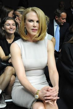Nicole Kidman Front Row at Calvin Klein Collection