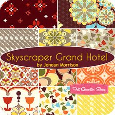 Skyscraper Grand Hotel Fat Quarter Bundle Jenean Morrison for Free Spirit Fabrics - Fat Quarter Shop
