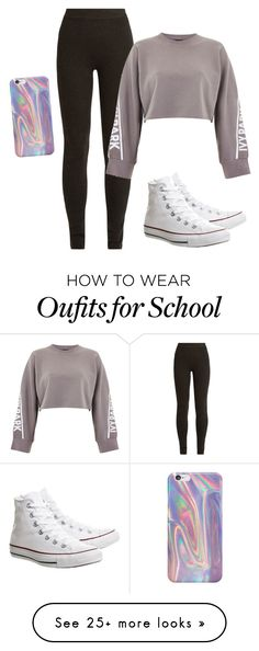 """School day"" by kierra-wolfswinkel on Polyvore featuring Ryan Roche, Ivy Park, Converse and Samsung"