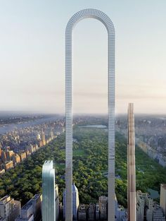 The Big Bend is a proposed skyscraper to be constructed in New York City. The skyscraper, which was designed by the New York architecture firm Oiio Studio, has been described as the longest building in the world. Futuristic Architecture, Beautiful Architecture, Urban Architecture, Conceptual Architecture, Architecture Today, Building Architecture, Conceptual Design, Historical Architecture, World Trade Center