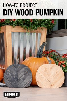 No pressure in the pumpkin patch to find your perfect decor – this simple DIY lets you customize the size of your pumpkin and blends in seamlessly with everything you've already got in the works for your fall front porch. Big or small – one, two, or a few of these DIY pumpkins helps create an easy, understated porchscape. Appealing to the eye, simple, and economical? We're in. Fall Crafts, Holiday Crafts, Thanksgiving Crafts, Diy And Crafts, Holiday Decor, Fall Projects, Wood Projects, Garden Projects, Candy Christmas Decorations