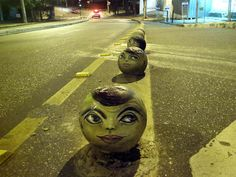 """Brazilian artist André Muniz Gonzaga (aka """"Dalata"""") is a well known street artist because his can paint on some irregularly shaped surfaces. You can view more photos of his artwork on his Flickr and Facebook pages."""