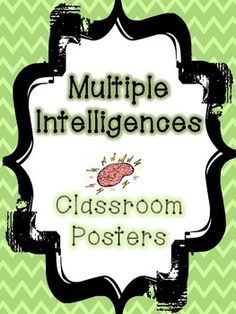 "*FREEBIE!* A set of 7 ""smarts"" posters for you to display to teach your students about Multiple Intelligences."