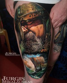 Vikings by Jurgis Mikalauskas, an artist and owner of Ink Island Tattoo Studio, Peterborough, England.