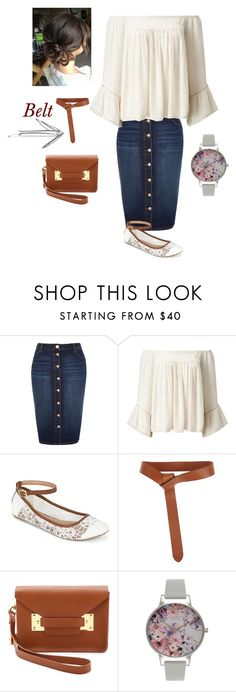 """""""Untitled #865"""" by bye18 ❤ liked on Polyvore featuring River Island, Miss Selfridge, Call it SPRING, Iris & Ink, Sophie Hulme and Olivia Burton"""