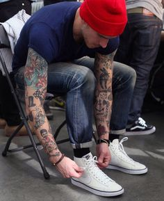 Supper punk with sick tattoos