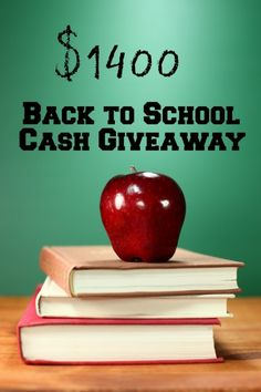 Enter to #win $1400 in this Back to School Cash #Giveaway