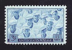 Vintage Unused US Postage Stamp 3c U.S. Navy Sailors commemorative stamp of 1945. Pack of 10 stamps sold on Etsy by TreasureFox, $4.00