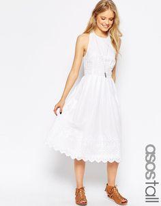 ASOS TALL Broderie Picnic Dress