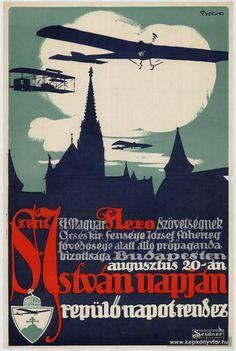 Magyar Aero Szövetség propaganda bizottsága Szent István napon repülő nap