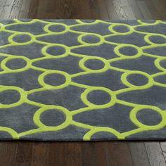 nuLOOM Handmade Modern Trellis Green Rug (5' x 8') | Overstock.com Shopping - The Best Deals on 5x8 - 6x9 Rugs