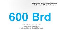 IPv6 enables 600 billion IP-adresses per mm²
