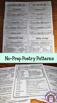 Poem Patterns give students structure while allowing plenty of room for creativity. Here are 21 poetry patterns to try with your students!