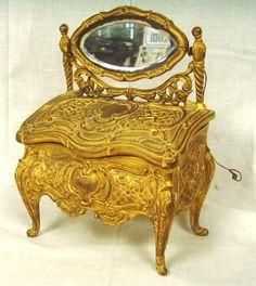 J.B. French Rococo Style Vanity Form Dresser Box