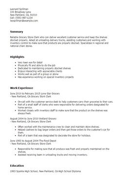 Grocery Store Resume Food Server Resume Template  Httpjobresumesample2005Food .