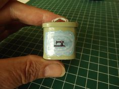 miniature sewing tin - diy from cardboard