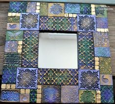 Mixed Media Boxes, Decoupage, Clay Tiles, Mosaic Crafts, Stencils, Polymer Clay Crafts, Air Dry Clay, Tile Art, Cold Porcelain