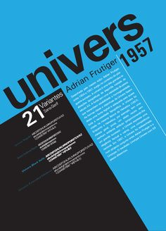 Cartaz Estilo Tipográfico Internacional - Univers by Pedro Águas, via Behance