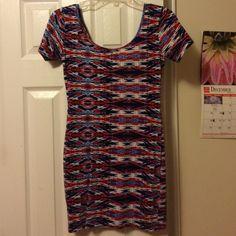 Red, white, and blue body con SHORT, BODY CON Forever 21 Dresses Mini