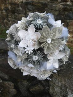 paper flower wedding bridal bouquet-actually really like this is