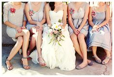 Aw, see... My bridesmaids will looks so gorgeous in gray and a little bright color :)