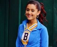 Ariana Grande. Why is Ariana Grande so flippin perfect?! Lol I swear, i have never seen in hollywood a more beautiful, more talented singer and shes such a funny actress as Cat on Victorious.