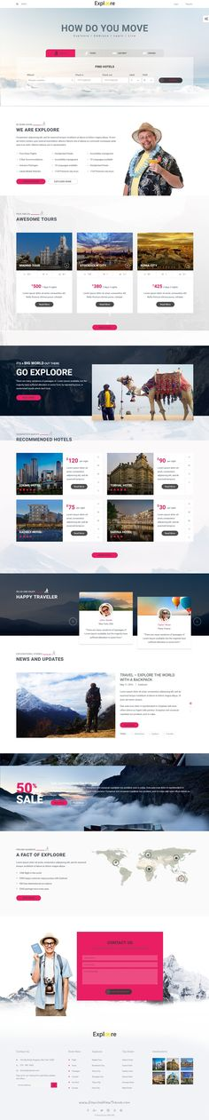 Exploore is modern 5 in 1 #WordPress #Theme designed for travel agency, hotel, cruse or car #booking website download now➝ https://themeforest.net/item/exploore-travel-exploration-booking-wordpress-theme/16170990?ref=Datasata