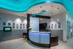 Orthodontic Reception Desk designed by Civitas Architects. Scott & Jane Orthodontics, Missouri City, TX
