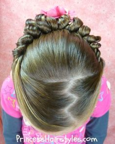 Just did my little girls hair like this today. Very easy!