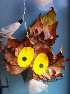 owl leaf craft