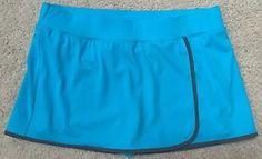 *LANDS END* Women's Aqua Blue Tennis Golf Athletic Skort Skirt Size 14 PLUS SIZE
