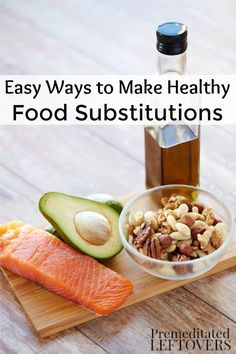 Use these simple tips to make healthy food substitutions in your healthy lifestyle change!