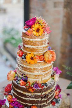 pronovias colourful wedding