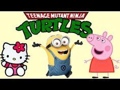 Minions Box full of Pepa Pig Ninja Turtles Hello Kitty blind bags opening