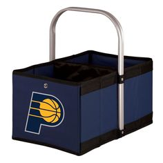 Picnic Time Indiana Pacers Urban Folding Picnic Basket, Blue (Navy)