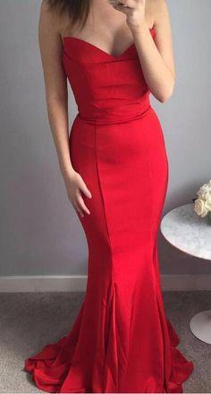 elegant prom dress, sweetheart red mermaid long prom dress, 2018 long prom dress